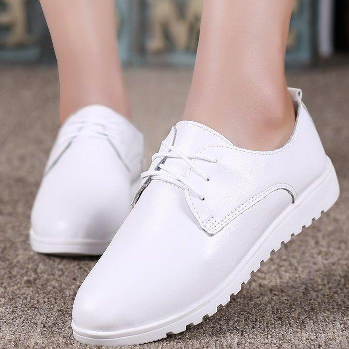 FINDSENSE品牌 四季款 新款 日本 女 高品質 簡約 真皮 文藝清新 小白鞋 百搭 舒適 休閒鞋  潮流鞋子