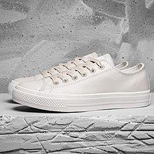 D-BOX  CONVERSE CHUCK TAYLOR ALL STAR II 純白色 低筒 皮革 板鞋