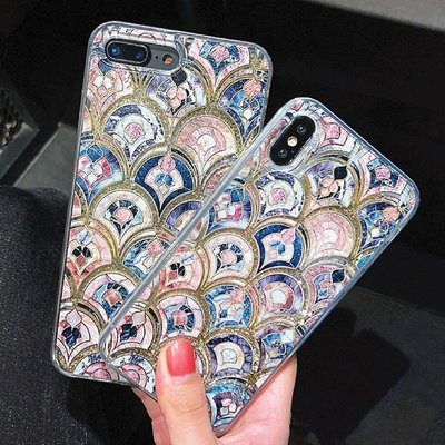 IPhone Xs Max X 8 7 6 plus 超美 大理石 流沙 全包軟殼 保護套 手機套 手機殼 保護殼