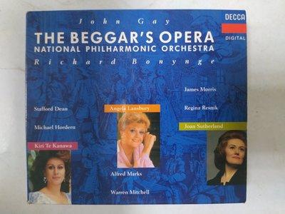昀嫣音樂(CDa74) John Gay THE BEGGAR'S OPERA Richard Bonynge 保存如圖
