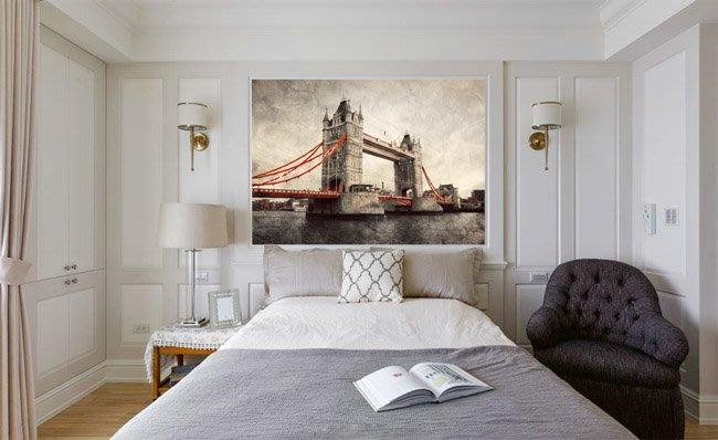 客製化壁貼 店面保障 編號F-057 復古倫敦橋 壁紙 牆貼 牆紙 壁畫 星瑞 shing ruei