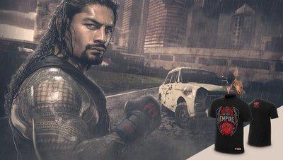 ☆阿Su倉庫☆WWE摔角 Roman Reigns From Ashes to Empire T-Shirt 前進帝國