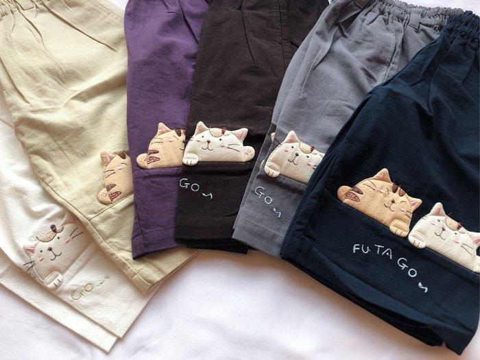 日本卡拉貓~貓咪FuTaGo薄款五分褲 童裝