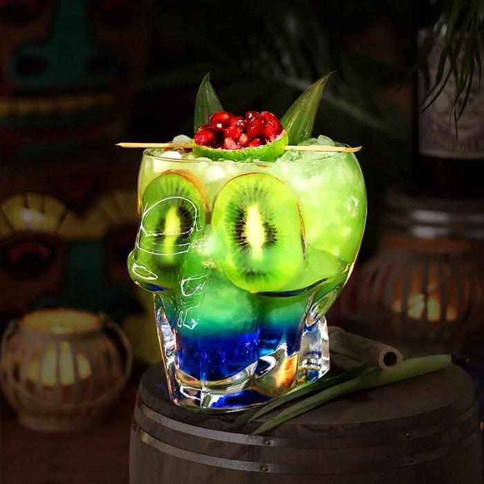 酒吧傳奇 骷髏酒杯 萬圣節專用玻璃骷髏頭杯 玻璃紅酒杯雞尾酒杯