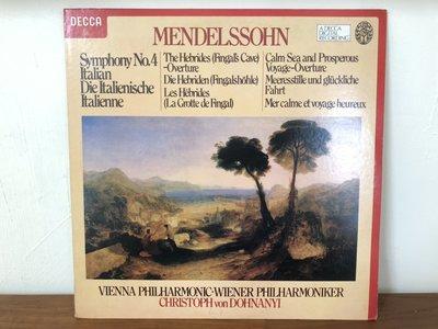 DECCA黑膠LP/MENDELSSOHN/SymphonyNO.4 Italian Op.90