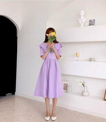 韓國東大門V領減齡女神洋裝