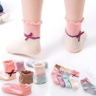 兒童襪子蝴蝶結鬆口中筒公主襪3-5-7-9-12歲女童寶寶襪子