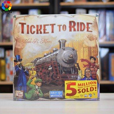 鐵路環遊ticket to ride車票之旅英文版