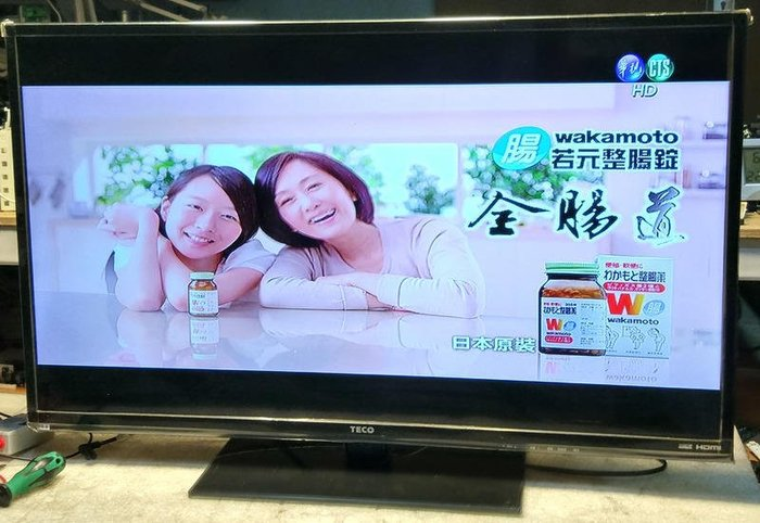東元 TECO 39吋 TL3902TRE LED 液晶電視 ,製造日期:2013年