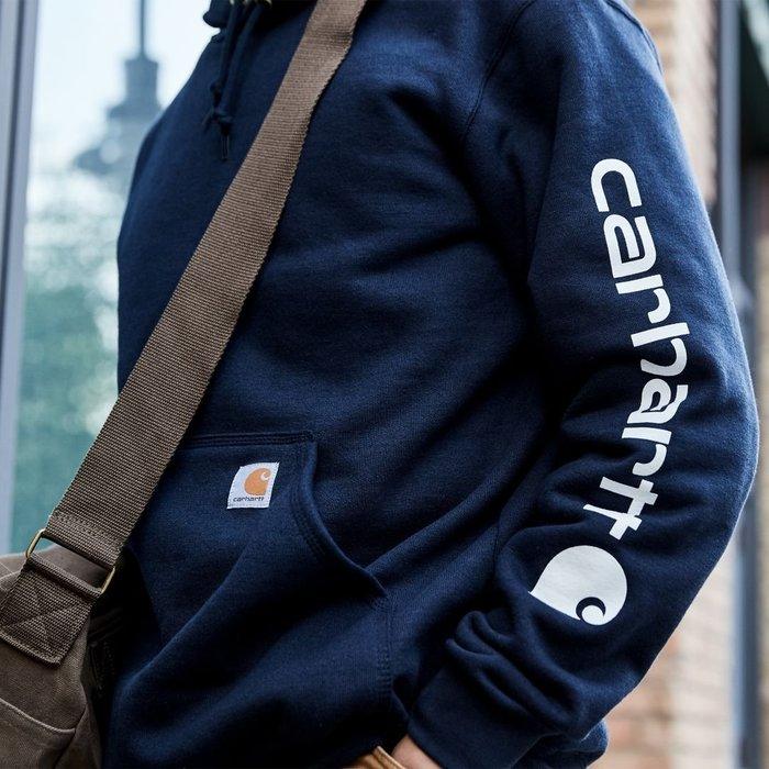 南◇2019 11月 Carhartt K288 Midweight Logo  連帽 帽TEE 藍色 灰色 黑色 咖啡