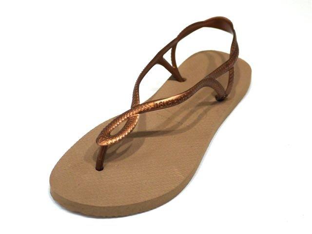 [Ralvi]全新超值Havaianas(哈瓦仕) LUNA 玫瑰金色 涼鞋系列 巴西夾腳拖/人字拖/拖鞋 (女款)