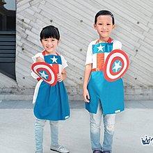 **party.at**美國隊長 女孩 兒童圍裙+盾牌 2-8Y 萬聖節服裝 聖誕節服裝 哈利波特 超人 蜘蛛人 蝙蝠俠