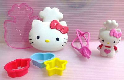 龍廬-自藏2手出清~2013年麥當勞發行3入模具含hello kitty收納盒子&hello kitty造型攪拌棒