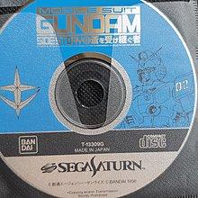 2隻 Sega Saturn灰,白機用,從日本買的正版高達game, 没有盒,纸及說明書。含2 款不同的。