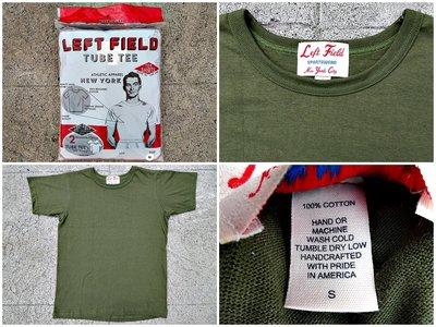 西方不敗美國製手工Left Field Tube Tee 2 Pack 兩件入圓筒T 軍綠色 素T 衣服 短Tee T恤