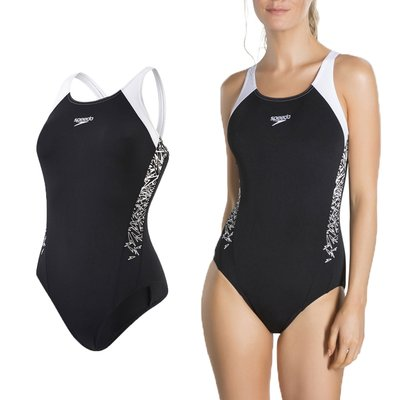 SPEEDO Boom Splice MB 女運動連身泳裝(免運 游泳 競賽 泳衣【03450019】≡排汗專家≡