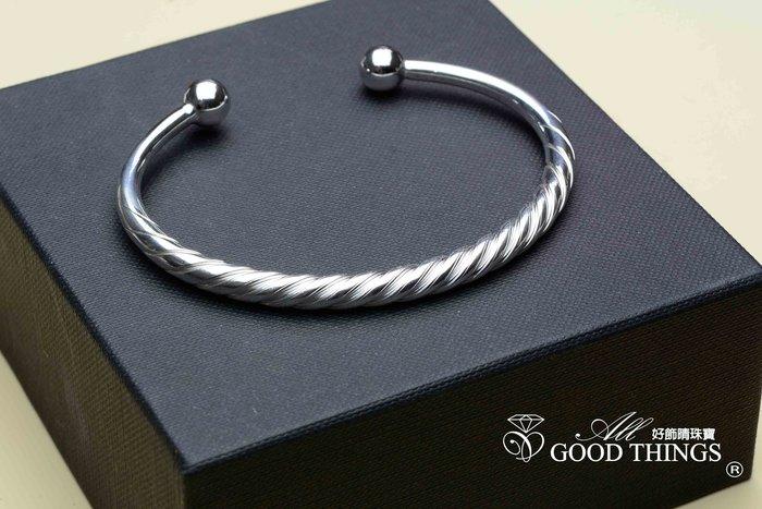 5.2mm圓棍旋轉對珠/開手鐲/時尚手環/好飾情珠寶