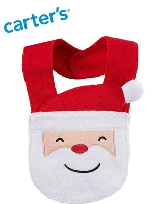 妙寶貝♡Carters聖誕老公公造型圍兜兜(滿月/彌月禮物)另有Oshkosh、Crazy8、Gymboree美國童裝