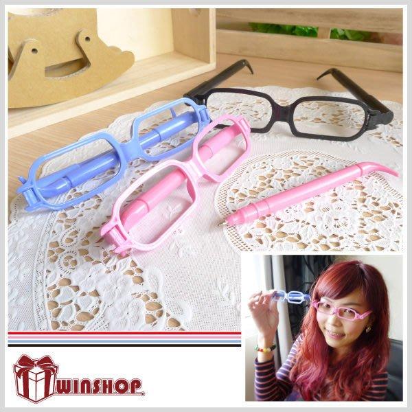 【贈品禮品】A1851 眼鏡造型筆/鏡框造型筆/眼鏡筆/眼鏡造型原子筆/創意文具/廣告筆