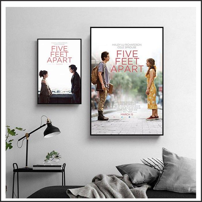 日本製畫布 電影海報 愛上觸不到的你 Five Feet Apart 掛畫 嵌框畫 @Movie PoP 賣場多款海報#