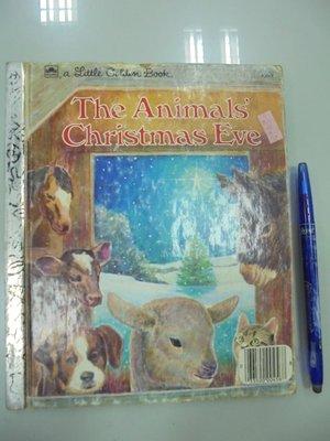 書皇8952:D3-3bc☆1977年『The Animals' Christmas Eve』Gale《GOLDEN》