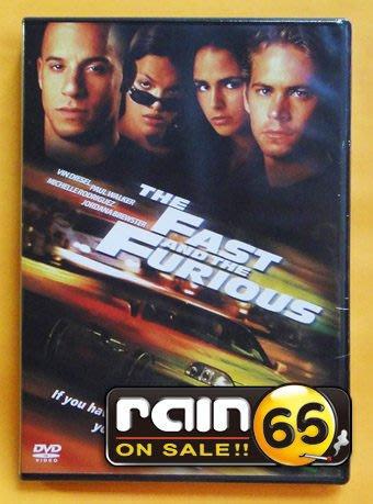 ⊕Rain65⊕正版DVD【玩命關頭1】-星際傳奇-馮迪索*保羅沃克-全新未拆(直購價)
