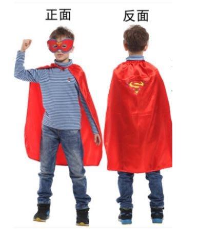 "X射線【W275933】30""無敵小超人眼罩披風組,萬聖節服裝/化妝舞會/派對道具/兒童變裝/表演/超人/DC/cosp"