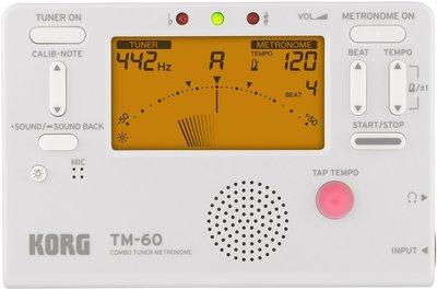 【華邑樂器70019-2C】KORG TM-60C 二合一調音節拍器-白色+原廠音夾 (TM50改款 調音器+節拍器