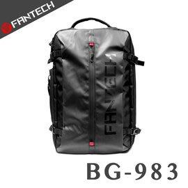【風雅小舖】【FANTECH BG983 多功能雙層大容量旅行後背包/15.6吋電競筆電後背包-加強安全扣帶/防潑水前袋