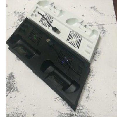 PS4 Pro 直立架 多功能風扇直立腳架 7XXX型專用  雙風扇散熱器 雙手把充電座(黑色/白色)