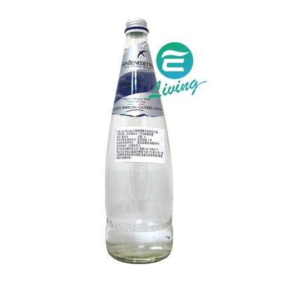 【易油網】SAN BENEDETTO 氣泡天然礦泉水 氣泡水 1L X 12瓶 非沛綠雅 聖沛黎洛 藍箱子