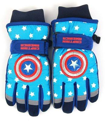【育世子精品童裝】韓國進口--WH 美國隊長兒童手套 鋼鐵人