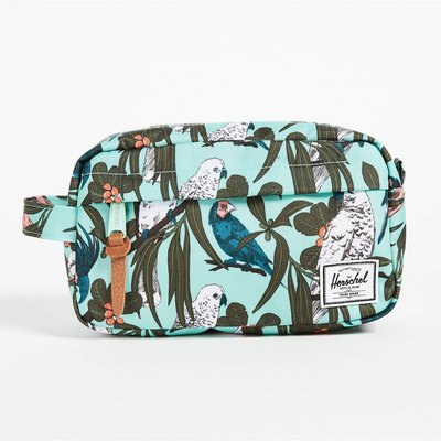 Herschel Chapter 綠色 鳥 葉子 Carry On 帆布 旅行 防水拉鍊 化妝包 收納袋 [現貨]