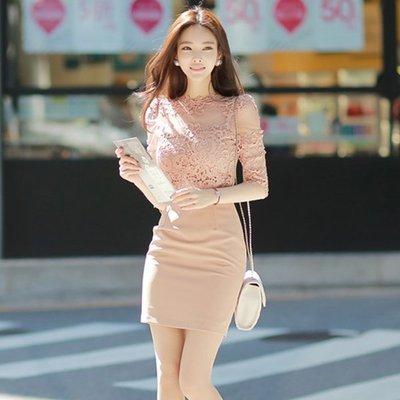 氣質蕾絲名媛經典洋裝
