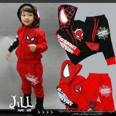 美國電影周邊漫威英雄系列 蜘蛛人造型棉質兒童運動套裝童裝 Marvel【J1F6001】
