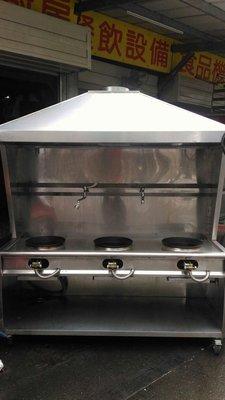 南門新舊餐廚設備拍賣銀品二手厚料三口快速炒菜台