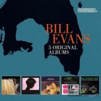 爵士超凡大師傳奇5CD 王盤套裝【第二輯】/比爾艾文斯 Bill Evans---7236935