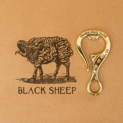 黑羊選物 黃銅 開瓶器鑰匙圈 手感扎實...