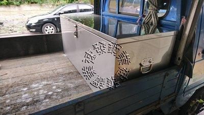 速發~貨車專用工具箱中型標準型白鐵304縮蓋式N字口工具箱!不鏽鋼防水車斗 防盜大型工地專用鐵箱子廢棄物箱 白鐵箱收納箱