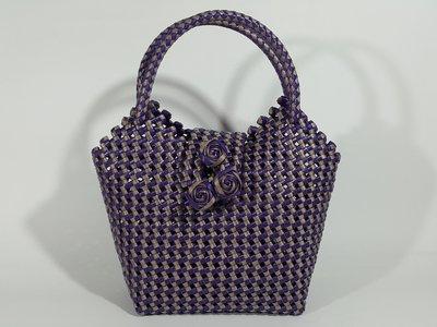 [銀九藝] 文青創意 手工編織提袋 手提包 肩背包