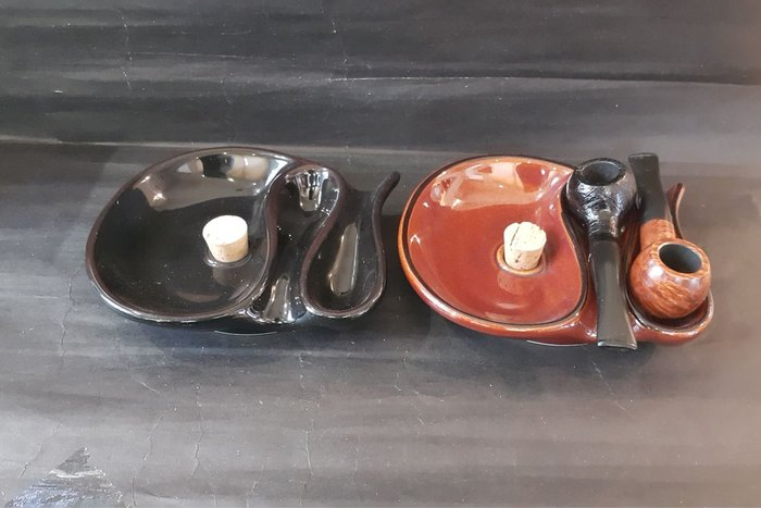 ONE*$1~拓製作所*日本進口*煙斗專用《陶瓷煙灰缸》無接縫,可放2支煙斗*編號:78190