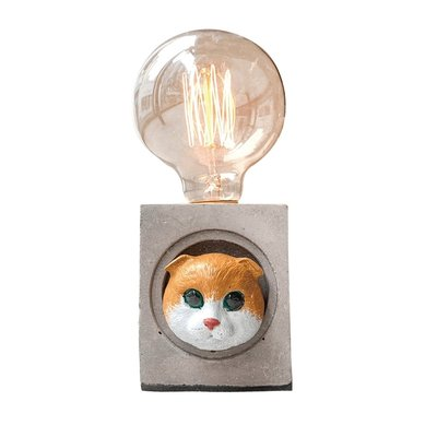 【曙muse】摺耳喵咪水泥方燈 個性水泥桌燈 造型檯燈 Loft 工業風 咖啡廳 民宿 餐廳 居家擺設