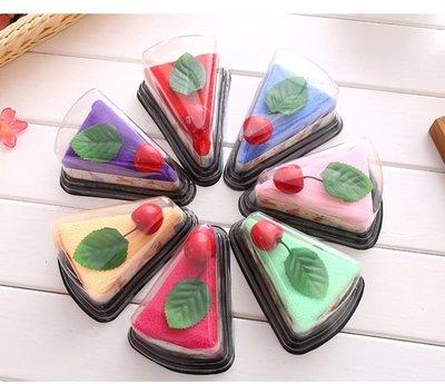 婚禮小物 精緻三角蛋糕毛巾 盒裝【30 個起訂】送客禮手工香皂袋巧克力烘培材料來店禮二次進場兒童節禮品