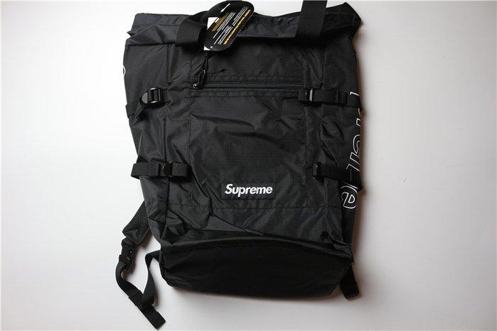 全新正品2019 supreme 黑色 後背包