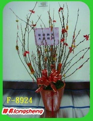 台北龍昇網路花店【F-8924銀柳盆栽】~開運大吉.歡喜年年~