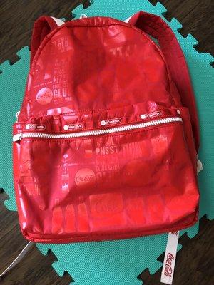 [[二手 私物自售 無附件 品牌真品]] LeSportSac 女包 CocaCola 可口可樂聯名系列後背包