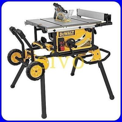 DEWALT DWE7491RS 腳架含推車 台面可延伸專業10吋桌上型圓鋸/木工台鋸/斜切鋸/圓鋸工作桌
