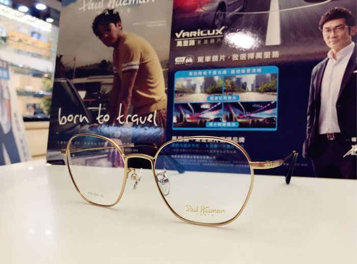 Paul Hueman 韓國熱銷品牌 英倫街頭時尚 金色細邊金屬復古風潮眼鏡 時尚百搭 PHF199A 199