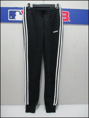 【喬治城】ADIDAS 女款三線運動長褲 縮口 休閒 黑色 正品公司貨 DP2380