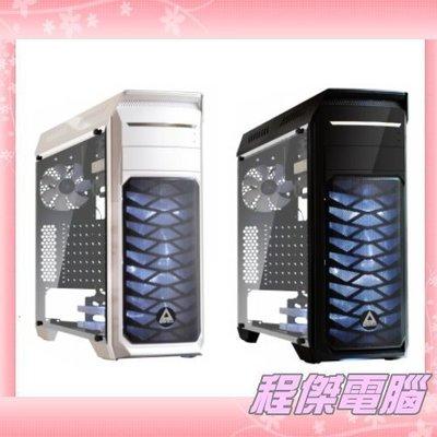 『高雄程傑電腦』德隆 YAMA M1 中塔式機殼支援36CM水冷 透明側板 下置電源  黑白雙色【免運費】